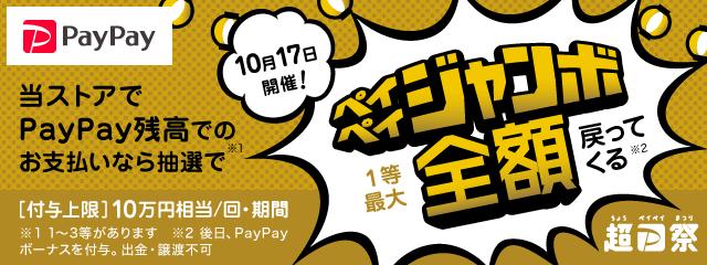 とらのあなでも超PayPay祭!オープニングジャンボ